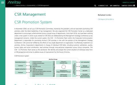 Screenshot of Team Page anritsu.com - CSR Management- Anritsu America - captured Nov. 21, 2016