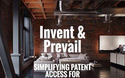 Screenshot of Home Page nventi.com - nventi | patent and intellectual property for startups - captured Aug. 16, 2015