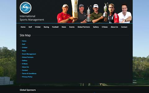 Screenshot of Site Map Page sportism.net - ISM - captured Oct. 6, 2014