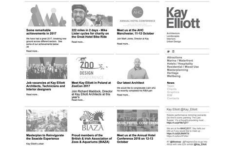 Screenshot of Press Page kayelliott.co.uk - News | KAY ELLIOTT - captured Oct. 15, 2018