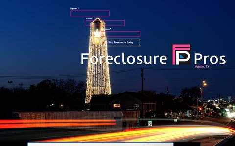 Screenshot of Landing Page pagewiz.net - Stop Avoid Foreclosure Round Rock Stop Austin Foreclosure Foreclosure Professionals - captured April 5, 2016