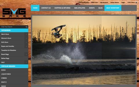 Screenshot of Home Page smgwake.com - SMG WAKE - captured Sept. 13, 2015