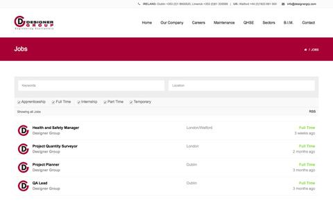 Screenshot of Jobs Page designergrp.com - Jobs | Designer Group - captured Oct. 25, 2016
