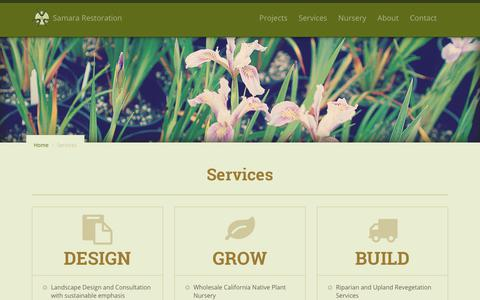 Screenshot of Services Page samararestoration.com - Services | Samara Restoration - captured July 27, 2018