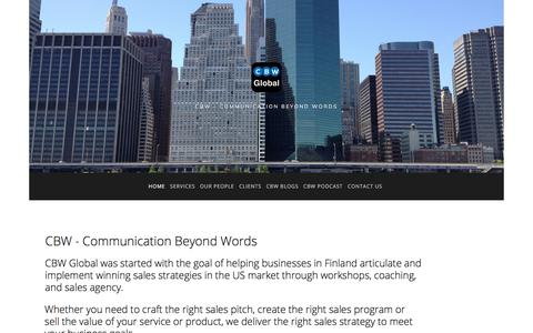 Screenshot of Home Page cbwglobal.com - CBW Global - captured Dec. 12, 2017