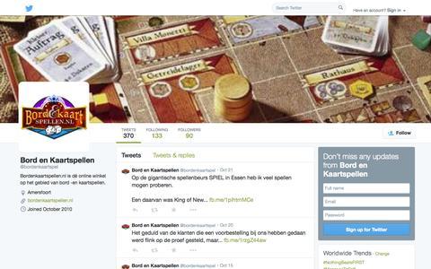 Screenshot of Twitter Page twitter.com - Bord en Kaartspellen (@bordenkaartspel) | Twitter - captured Oct. 23, 2014