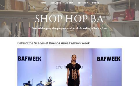 Screenshot of Blog shop-buenosaires.com - BLOG — Shop Hop BA - captured April 6, 2016