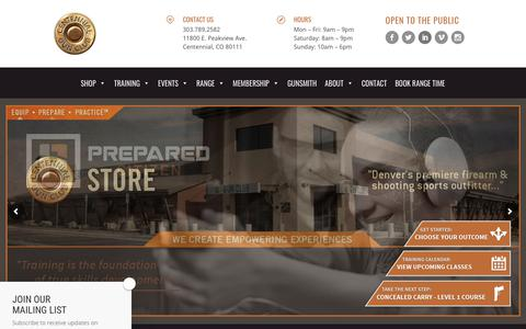 Screenshot of Home Page centennialgunclub.com - Centennial Gun Club | Colorado Gun Club & Denver Gun Store - captured July 16, 2018