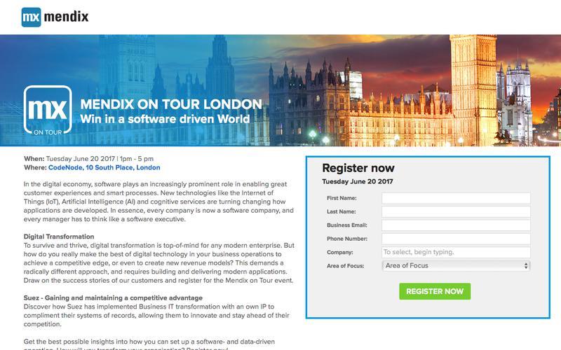Mendix on Tour - London
