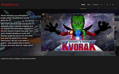 Screenshot of Home Page freekstorm.com - Main Page - Freekstorm - captured Aug. 3, 2015