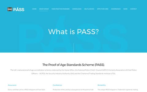 Screenshot of About Page pass-scheme.org.uk - What is PASS? | The National Proof of Age Standards Scheme - captured April 13, 2017