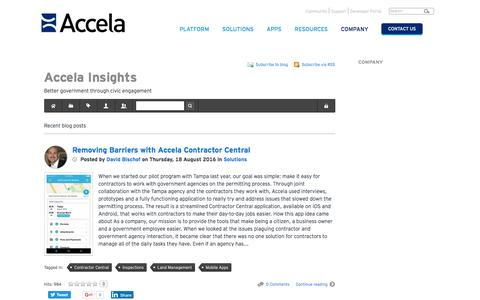 Accela Insights Blog | Working Together for Civic Good - Accela Insights