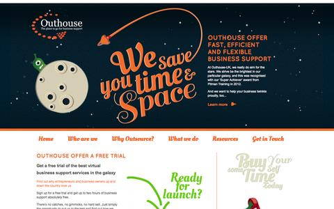 Screenshot of Trial Page outhouseuk.com - Free Trial | Outhouse UK | The place to go for business support - captured Oct. 26, 2014