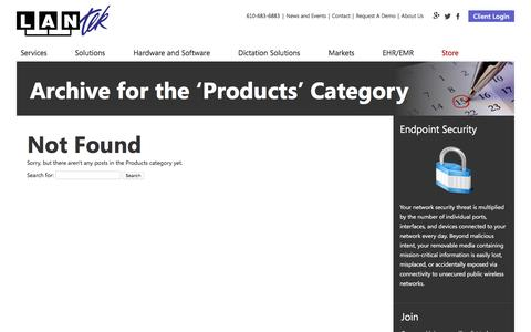 Screenshot of Products Page lantekonline.com - Products Archives LANtek - captured Oct. 3, 2016