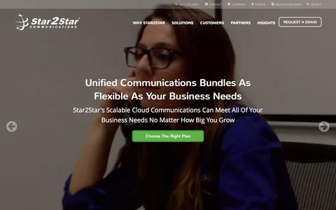 Screenshot of Home Page star2star.com - Star2Star: World's Most Scalable Cloud Communications Solution - captured Feb. 24, 2016