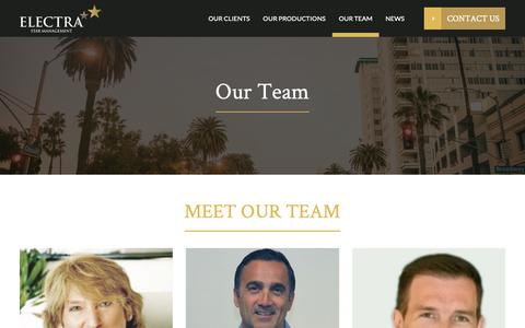 Screenshot of Team Page electrastarmgmt.com - Meet Our Team Members | Electra Star Management - captured Sept. 27, 2018
