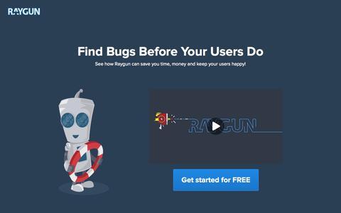 Screenshot of raygun.io - Best Error Tracking Software - raygun.io - captured Dec. 13, 2014