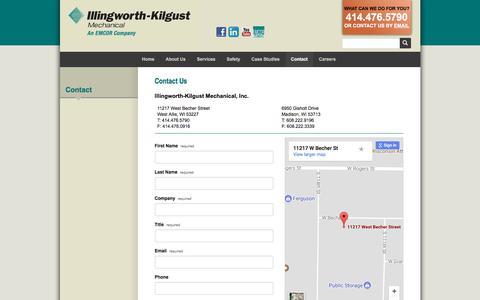 Screenshot of Contact Page illingworth-kilgust.com - Illingworth-Kilgust :: Contact - captured Oct. 14, 2017