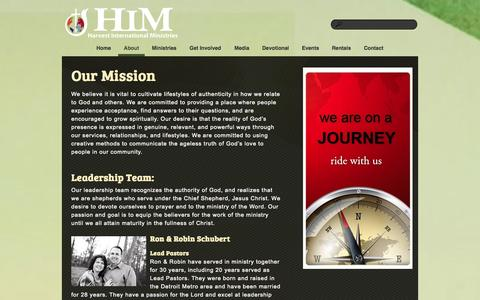 Screenshot of About Page hmcwired.com - About «  Harvest International Ministries - captured Oct. 2, 2014