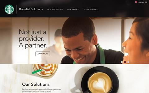 Starbucks Branded Solutions | Home
