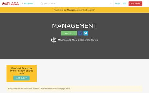 Screenshot of Team Page explara.com - Book Tickets for Management events in Boardman |Explara.com - captured Nov. 6, 2015