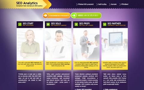Screenshot of Home Page seo-analytics.cz - SEO Analytics - SEO nástroje - captured Sept. 18, 2015