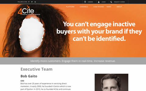Screenshot of Team Page 4cite.com - Executive Team - 4Cite Marketing - captured June 18, 2019