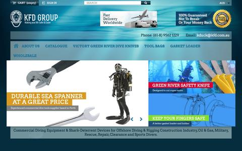 Screenshot of Home Page kfd.com.au - KFD Group. Buy Commercial Diving Tools from Experienced Saturation Diver. - KFD Group - captured Nov. 27, 2016