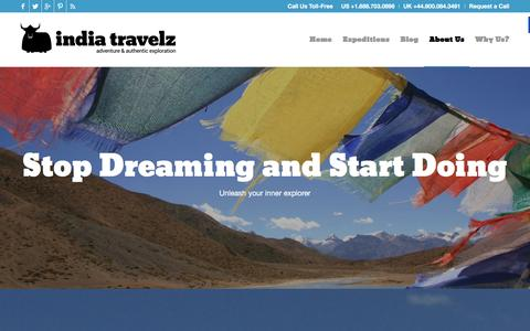 Screenshot of About Page indiatravelz.com - About Us | India Travelz - captured Jan. 8, 2016