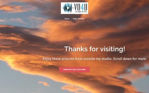 Screenshot of Home Page vo4u.com - Home | Dan Harder-VoiceOver - captured Oct. 19, 2018
