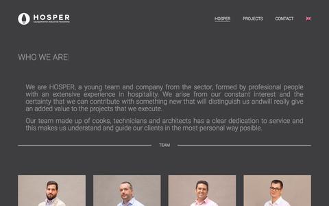 Screenshot of About Page Team Page hosperprofesional.com - HOSPER · Hosper - captured July 22, 2018