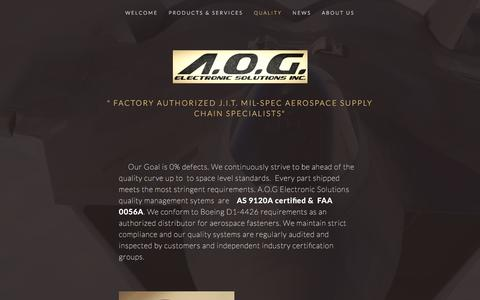 Screenshot of Locations Page aogelectronics.com - QUALITY — A.O.G. ELECTRONIC SOLUTIONS, INC. - captured Nov. 16, 2016