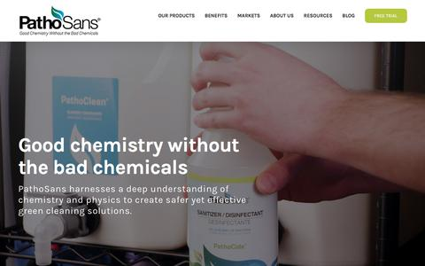 Screenshot of Home Page pathosans.com - Safe Green Cleaning and Environmentally Responsible All-Purpose Cleaner - PathoSans - captured July 13, 2018