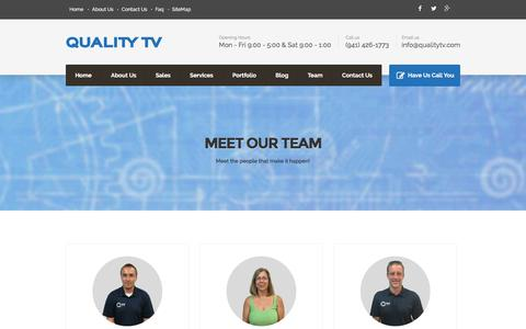 Screenshot of Team Page qualitytv.com - Meet our Team – Quality TV - captured July 14, 2016