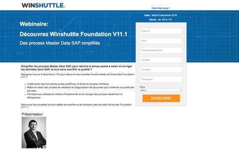 Screenshot of Landing Page winshuttle.com - Winshuttle - captured Dec. 14, 2016