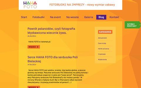 Screenshot of Blog hahafoto.pl - Blog   Hahafoto.pl - captured Sept. 26, 2014