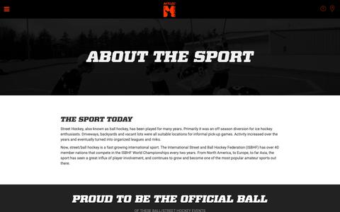 Screenshot of About Page mylec.com - About The Sport | Mylec - captured Oct. 19, 2018