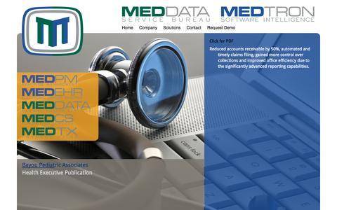 Screenshot of Case Studies Page medtronsoftware.com - Medtron Software - captured Oct. 3, 2014