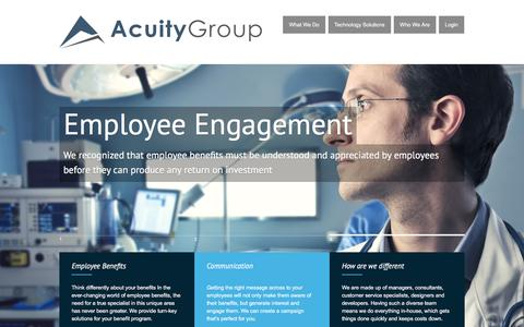 Screenshot of Home Page acuity-grp.com - Acuity Group | Intentionally Different - captured Feb. 5, 2016