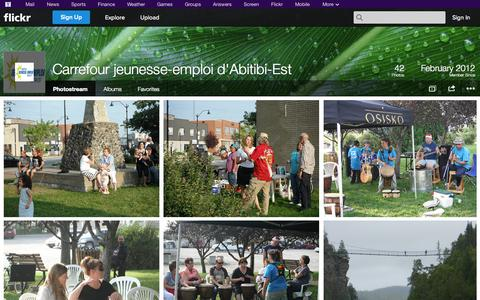 Screenshot of Flickr Page flickr.com - Flickr: Carrefour jeunesse-emploi d'Abitibi-Est's Photostream - captured Oct. 22, 2014