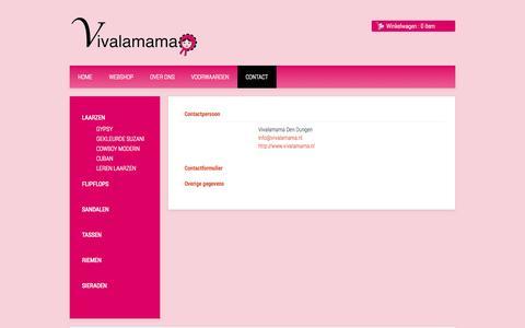 Screenshot of Contact Page vivalamama.nl - Contact - captured Oct. 7, 2014