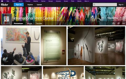 Screenshot of Flickr Page flickr.com - Flickr: International Print Center's Photostream - captured Oct. 23, 2014