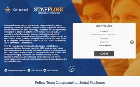 Screenshot of Login Page compunnel.com - Compunnel Software Group Inc. - Login - captured Sept. 19, 2015