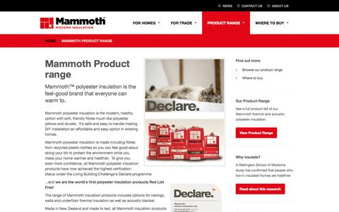 Screenshot of Products Page mammoth.co.nz - Mammoth Product range - captured Oct. 4, 2014