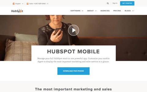 Screenshot of hubspot.com - HubSpot Mobile App - captured April 22, 2017