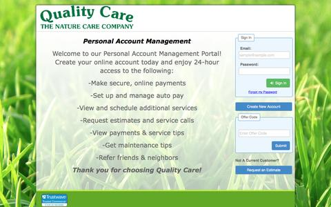 Screenshot of Login Page lawngateway.com - Customer Assistant : Login - captured May 19, 2017