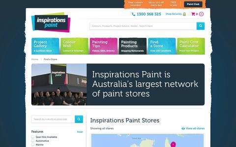 Screenshot of Locations Page inspirationspaint.com.au - Inspirations Paint Stores - captured June 7, 2017