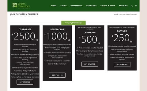 Screenshot of Signup Page greencs.org - Green Chamber of the South | Green Chamber of the South |   Join the Green Chamber - captured Nov. 6, 2016