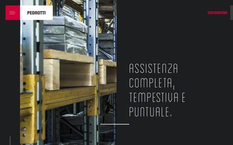 Screenshot of Services Page pedrotti.it - Pedrotti - Piastre ed Accessori per Stampi - captured Oct. 29, 2016