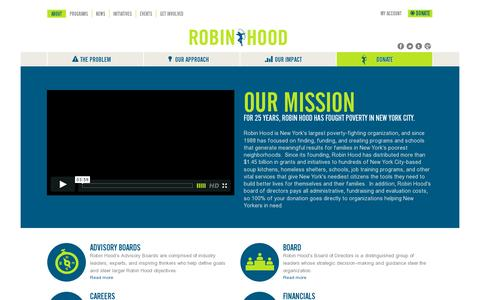 Screenshot of About Page robinhood.org - About Robin Hood | The Robin Hood Foundation - captured July 20, 2014
